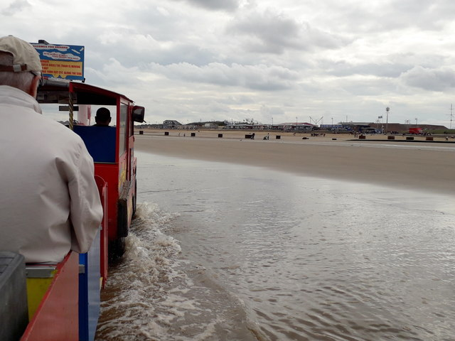 Mablethorpe: view from the train in the sea