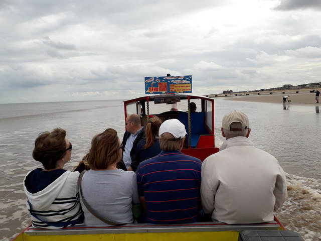 Mablethorpe: the Sand Train is in the sea