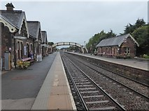 NY6820 : Looking down the line at Appleby station by Marathon