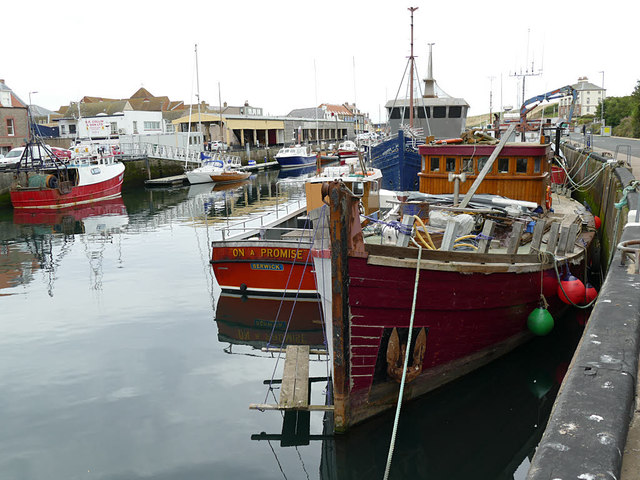 Old boats in Eyemouth harbour