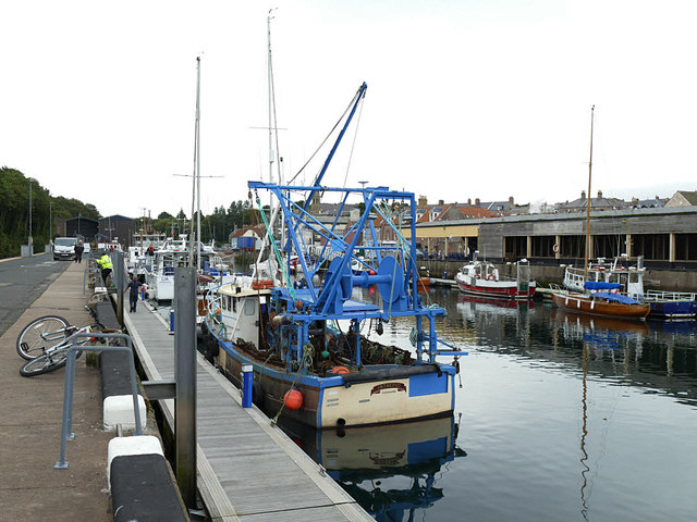 """Fishing vessel """"Intrepid"""" in Eyemouth harbour"""