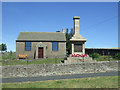 NZ0626 : Cemetery Chapel and War Memorial, Woodland by JThomas