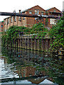 SK5806 : Industrial buildings by the Grand Union Canal in Leicester by Roger  Kidd