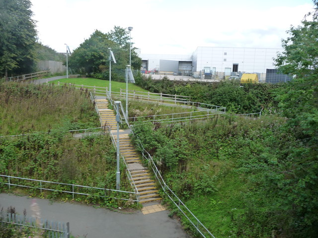 Public footpath from Woodfields to the River Irwell, Bury