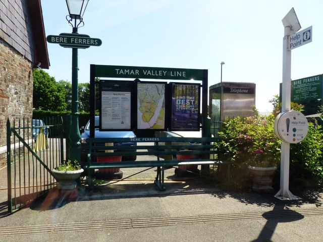 The railway station, Bere Ferrers