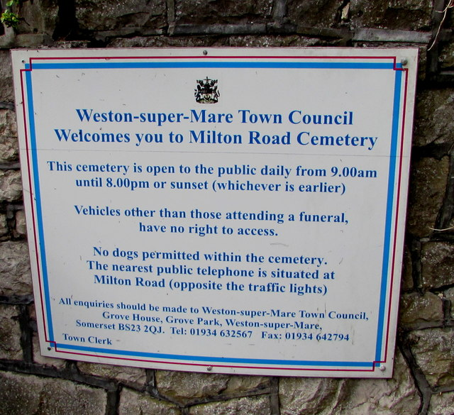fb2a636dfc7c1 Information notice for Milton Road... © Jaggery cc-by-sa 2.0 ...