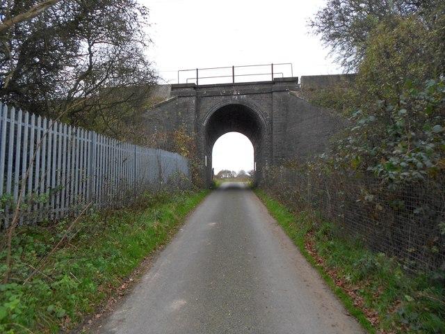 Watton at Stone: Hertford Loop railway bridge