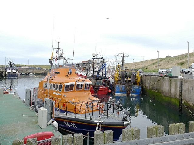 The Barclaycard Crusader at Eyemouth harbour