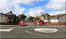 NT3699 : Road works, Buckhaven by Bill Kasman