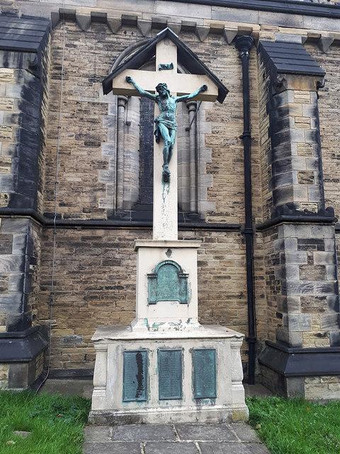 War memorial outside All Souls church