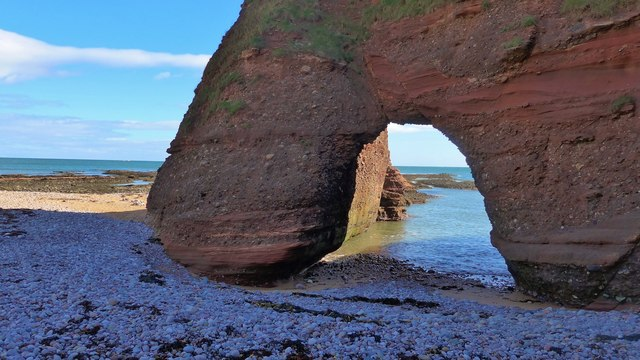 """The well-named """"Castle Gate"""" natural arch"""