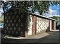 TG2309 : Decorative brickwork on (closed) public toilets : Week 38