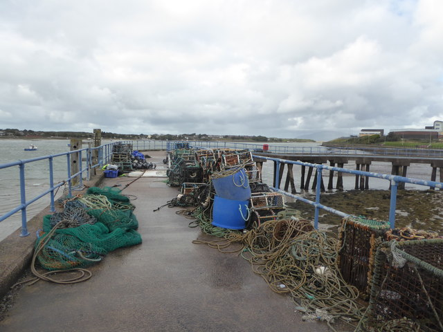 Jetty and fishing gear - Barrow-in-Furness