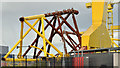 J3575 : Wind turbine parts, Harland & Wolff, Belfast  -  September 2018(4) by Albert Bridge