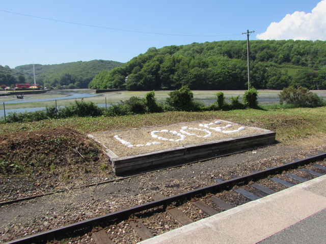 From railway station towards estuary and woods, Looe