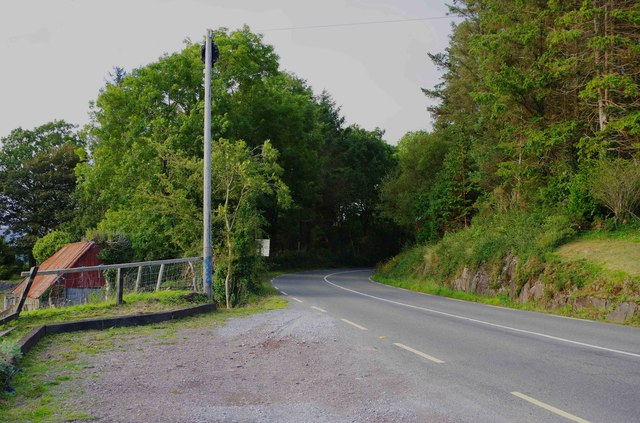 Bend in R571 road, Killaha West, near Kenmare, Co. Kerry