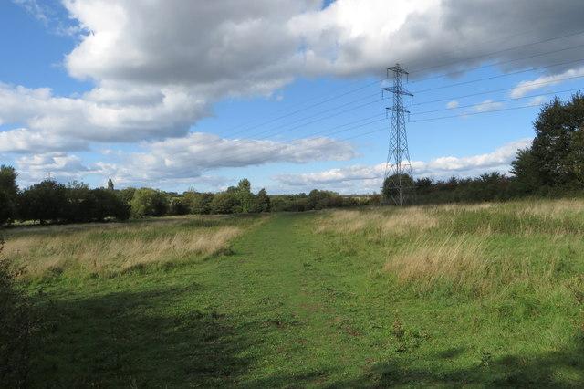 Pylon by a path