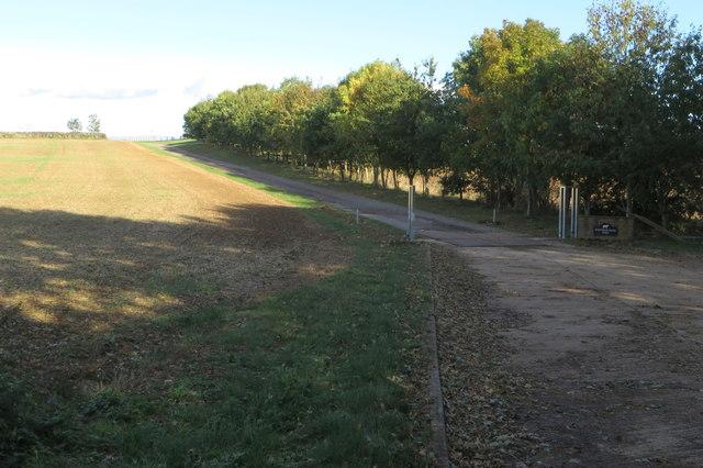Drive to Whitfield House Farm