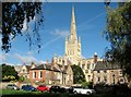 TG2308 : Norwich Cathedral as seen from the Lower Close by Evelyn Simak