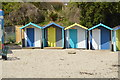 SW8031 : Beach huts, Swanpool Beach by N Chadwick