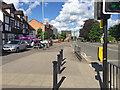SP2865 : Wide footway, Coten End, Warwick by Robin Stott