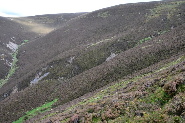 Gullies above Bleak Hope