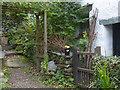 NY3407 : Garden beside Dove Cottage, Grasmere by Robin Drayton