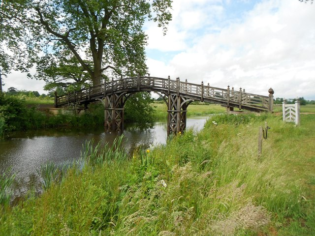 Croome Park: Chinese Bridge over Croome River
