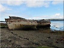 NM5643 : Salen Wrecks by Andrew Wood