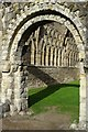 SJ6200 : Norman arch, Much Wenlock Priory by Philip Halling