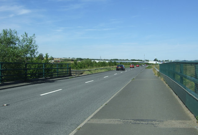 Looking north east on the A688
