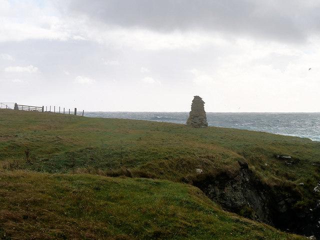Cairn on the Coastal Path between Jarlshof and Sumburgh Head