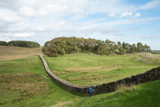 Hadrian's Wall north-east of Houseteads