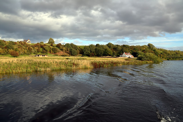 The River Tweed north of the Chain Bridge