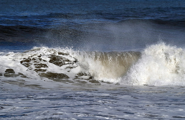 A crashing wave at Meadow Haven