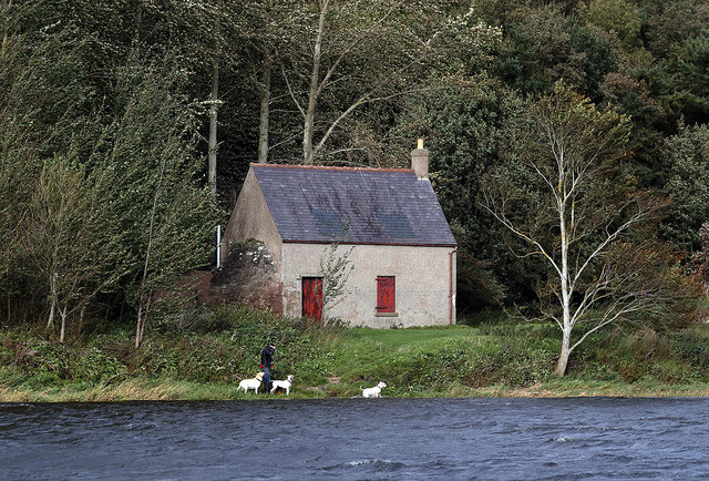 A salmon shiel by the River Tweed
