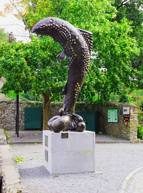 """Fish Abounding"" sculpture, Cahir, Co. Tipperary"