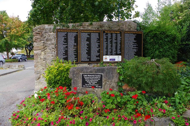Remembrance plaques in Cahir Memorial Garden, Co. Tipperary