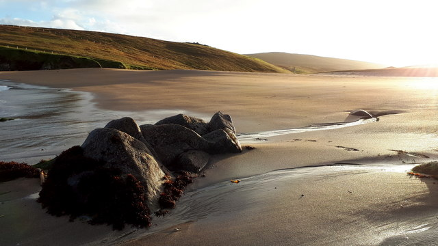 Low tide on Skaw beach