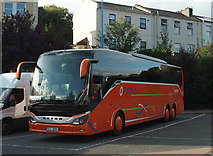 SX9164 : Czech coach, Torquay coach station by Derek Harper