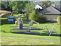 NY7246 : Children's play area at Alston by Oliver Dixon
