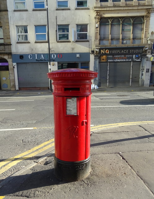 Victorian postbox on Swan Street, Manchester, M4