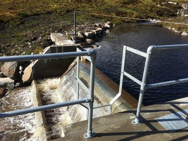 Dam on the Allt Mullardoch