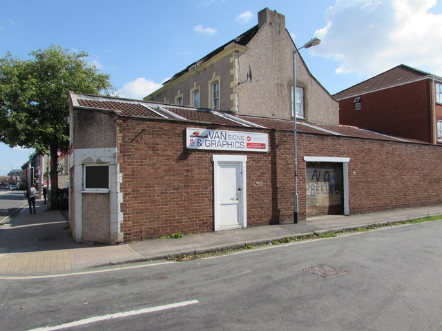 c556efa58f5a1 Van signs & graphics shop on a... © Jaggery :: Geograph Britain and ...