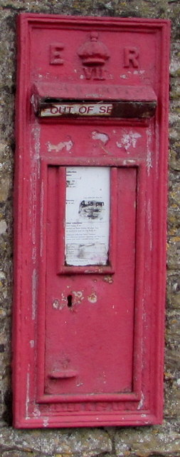 Disused Edwardian postbox in a High Street wall, Stow-on-the-Wold