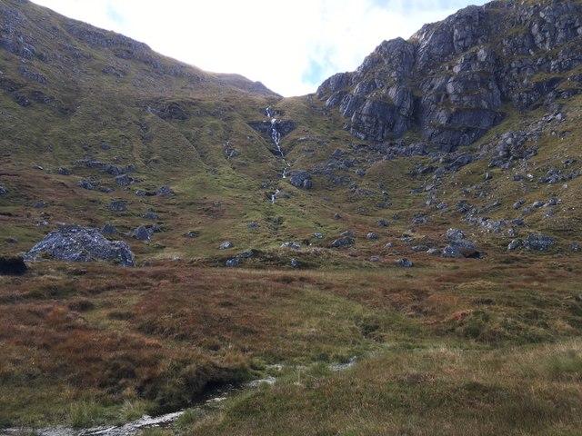 Waterfall in  Coire na Brogaichain