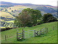 SJ1144 : Stile and gate above the Dee valley : Week 39