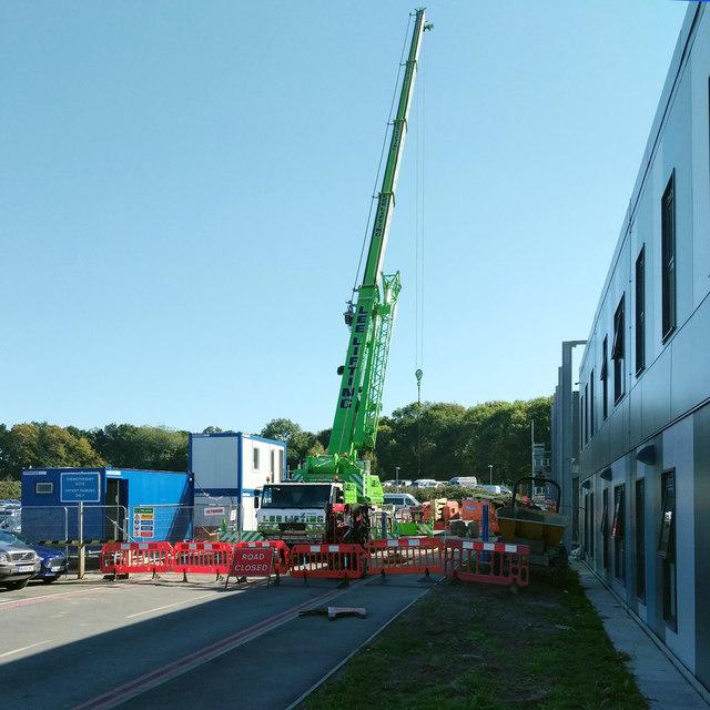 Crane at East Surrey Hospital