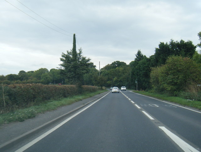 A614 leaving Holme-on-Spalding-Moor