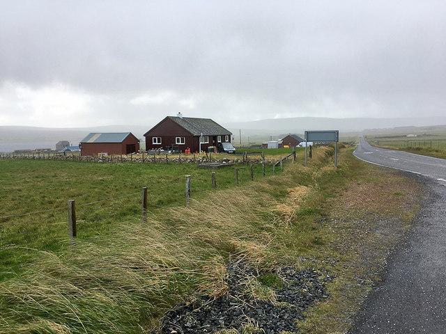 The A968 near Baltasound